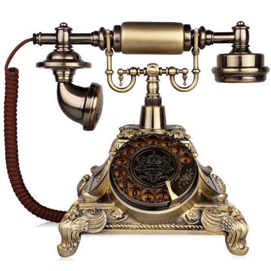 FADACAI Retro old-fashioned European telephone home seat Rotate dial