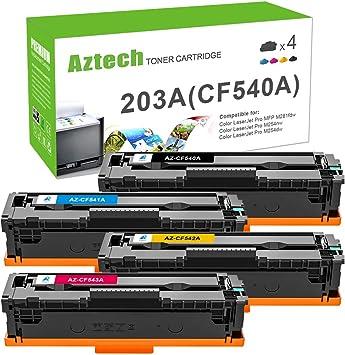 Aztech Kompatibel 203a 203x Cf540a Toner Cartridge Replacement Für Hp 203a Cf540x Für Hp Color Laserjet Pro Mfp M281fdw M281fdn Pro M254nw M254dw Mfp M280nw Hp M281 M254 Cf541a Cf542a Cf543a Toner