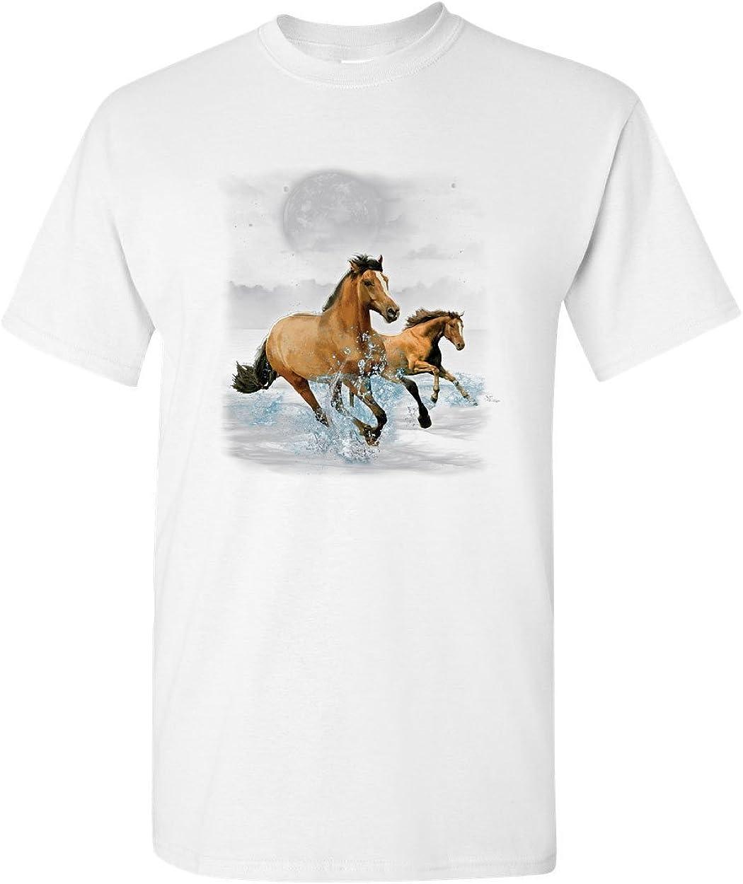 Running Wild Horses T-Shirt Wildlife Mustangs Nature Animals Mens Tee Shirt