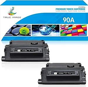 True Image Compatible Toner Cartridge Replacement for HP 90A CE390A Laserjet Enterprise 600 M602 M601 M4555 M602dn M602n M602x M603dn M603n M4555f M4555h (Black, 2-Pack)