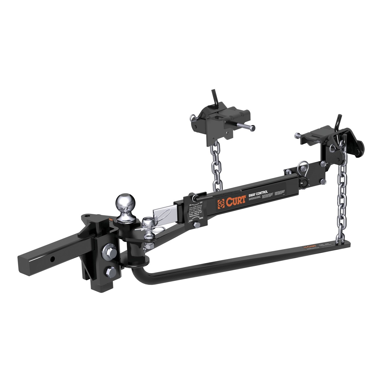 14,000 lbs. GTW, 2 Shank, 2-5//16 Ball 2 Shank 2-5//16 Ball Curt 17063 MV Black Round Bar Weight Distribution Hitch with Sway Control Kit Curt Manufacturing