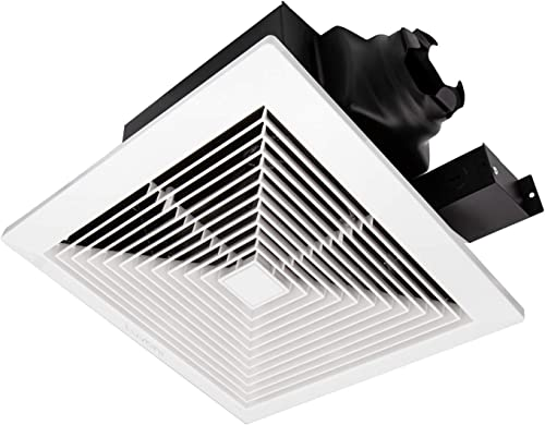 Luvoni 90 CFM Bathroom Exhaust and Ventilation Fan, 0.8 Sones Quiet Operation, Ceiling Fan, White Grill, by Maxxima