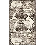 Safavieh Retro Collection RET2866-1379 Abstract Beige and Light Grey Area Rug (4′ x 6′) For Sale