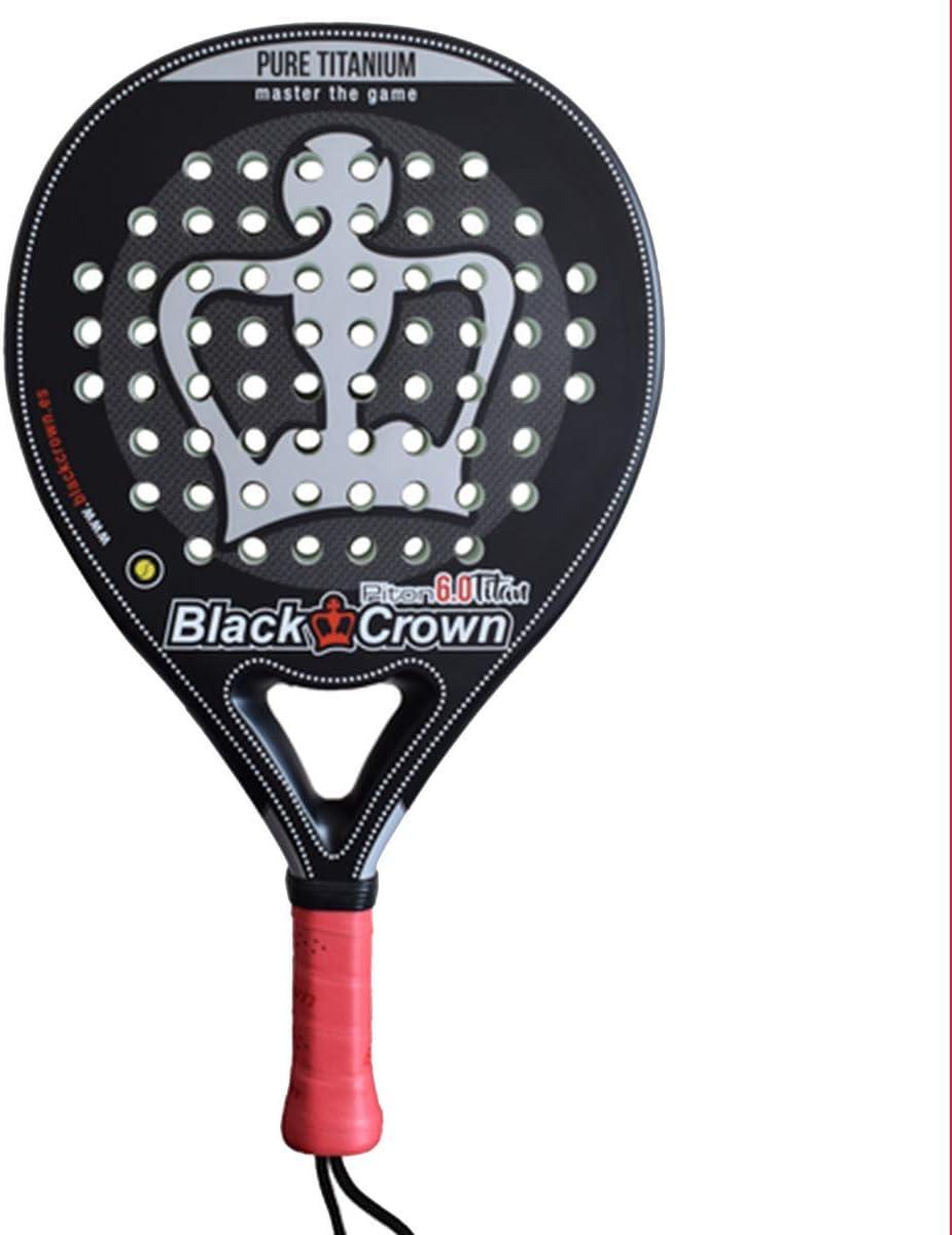 Black Crown Piton 6.0 Titan - Pala de Padel, Adultos Unisex, Negro Plata, L: Amazon.es: Deportes y aire libre