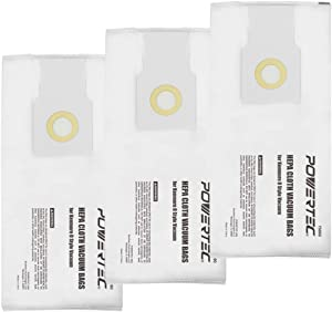POWERTEC 75060 Kenmore Upright Vacuum Bags O Style | HEPA Cloth Bag Replacement Filters for your Kenmore Upright Vacuum (53293 & 53294) | High Efficiency - 3 Pack