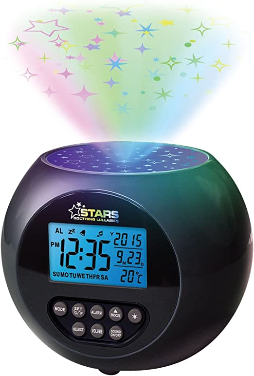 Sentik Starlight Proyector Reloj Despertador Star luz nocturna con ...