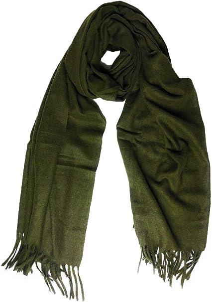 Cashmere - Bufanda de Lana de Chal (tamaño Grande), Sage Green