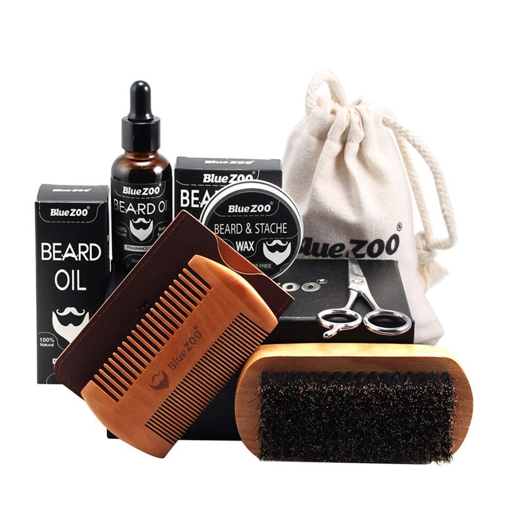 Kapmore 7PCS Beard Grooming Kit Assorted Beard Care Kit for Men