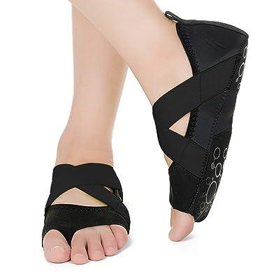 Barerun Women s Bellarina Shoes Half Toe Grip Non-Slip for Ballet Yoga  Pilates Barre ( 2e9cdfca3