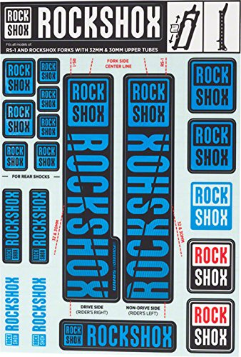 RockShox Decal Kit - 30/32mm Blue, 30/32mm, SID, Reba, Revelation