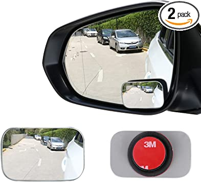 2 Packs Angle Adjustable Mirror Side Mirror Blind Spot for All Cars Blind spot Mirrors for Cars HD Glass Convex Rear View Mirror Blind Spot Mirror
