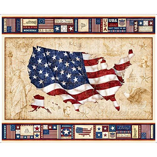 - Quilting Treasures American Pride US Flag Panel Cotton Fabric