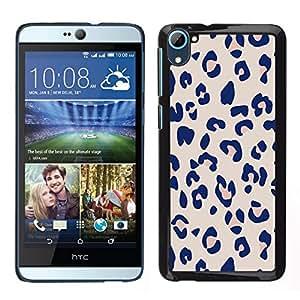 Caucho caso de Shell duro de la cubierta de accesorios de protección BY RAYDREAMMM - HTC Desire D826 - Patrón Leopard Pink Beige Piel Imprimir