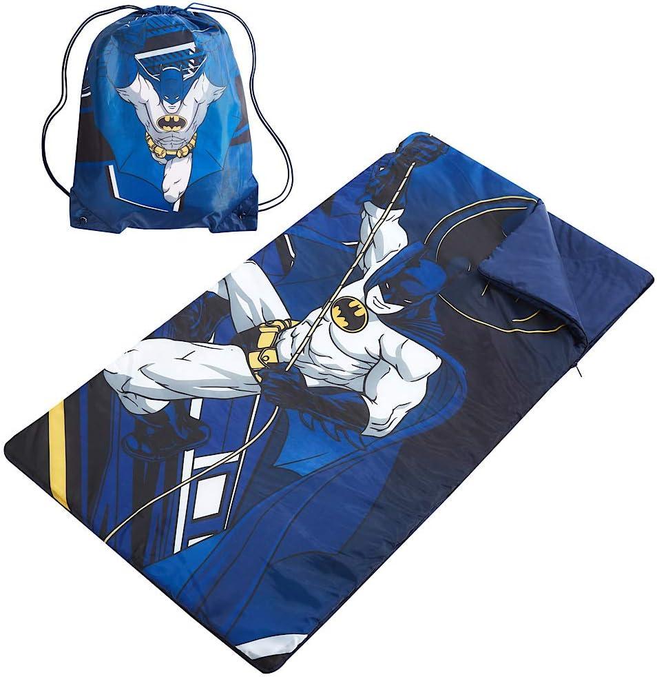 Kids DC Comics Batman Sleeping Bag with Sling Carry Bag