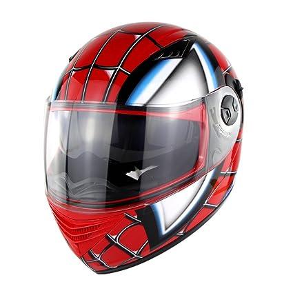 zyy Casco, Casco de Cara Completa Estilo Retro Halley Transformers Casco de carenado Moto Todo