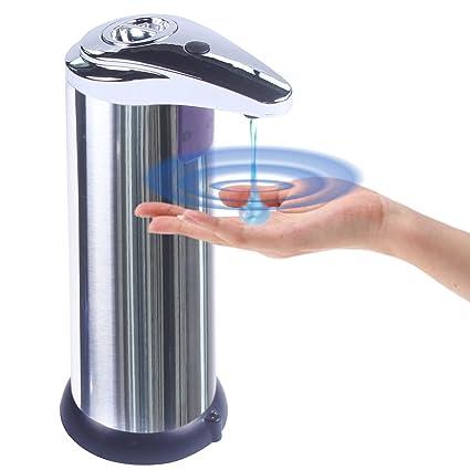 Dispensador de jabón líquido yooap, de acero inoxidable, resistente al agua, touchless resistente