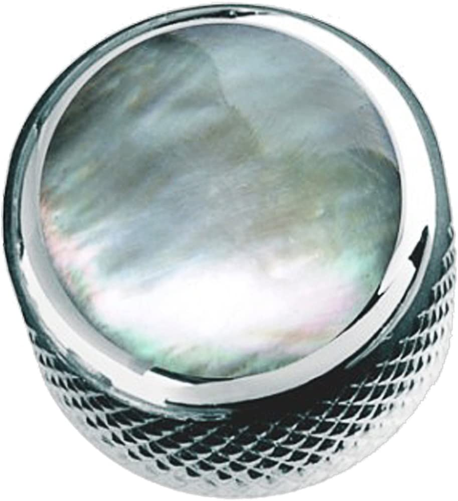 Q-Parts Dome Knob KCD-0020 GREEN PEARL ON CHROME