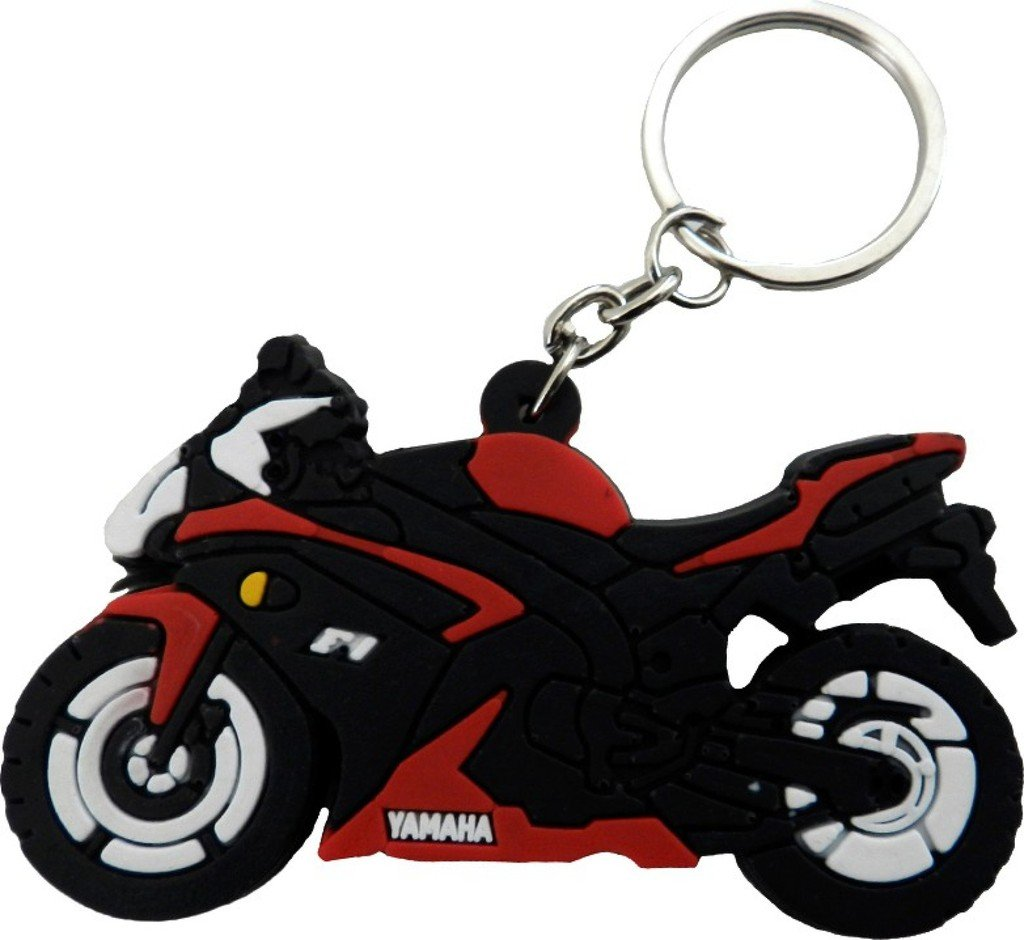 GCT Single Sided Yamaha Bike Logo Rubber Keychain for Car Bike Men Women  Keyring (Red Black)  Amazon.in  Bags 0a91a83dfb