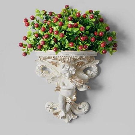 HZY La Escultura, la Escultura Moderna Ángel 3D Mural, Jardín Colgante de Pared de la Estatua, Inicio Artículos de decoración, Flor Artificial Ornamento Craft: Amazon.es: Hogar