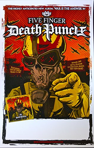 Five Finger Death Punch - War Is The Answer - Rare Advertising Poster - 11x17