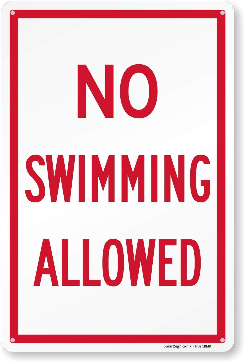 SmartSign/Swimming Pool Rules Sign 10 x 15 Plastic