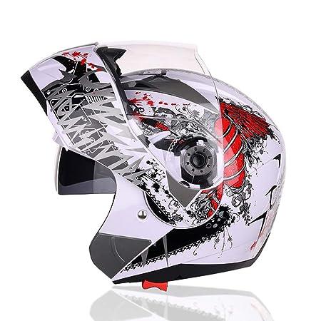 WWtoukui Casco para Motocicleta, Cara Frontal Modular Casco ...