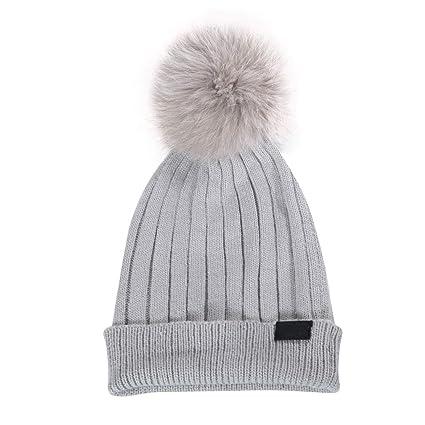 Cappello Autunno e Inverno Nuove Donne Peluche Palla cap Moda Tendenza  Caldo Invernale Inverno 57.5 cm 43b9f6db6e09
