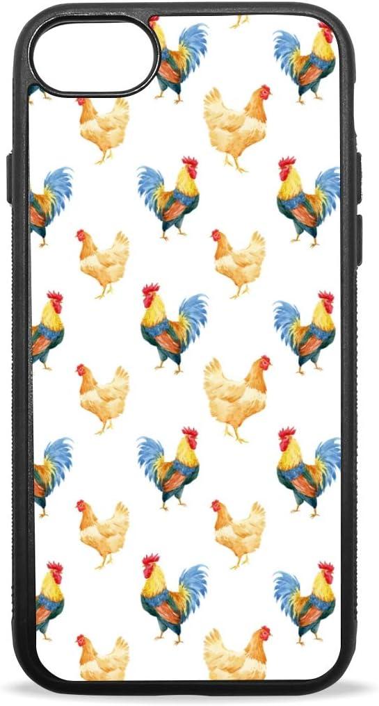 iPhone 8 Plus Coque, iPhone 7 Coque Blanc Mignon Coq Poule Art ...