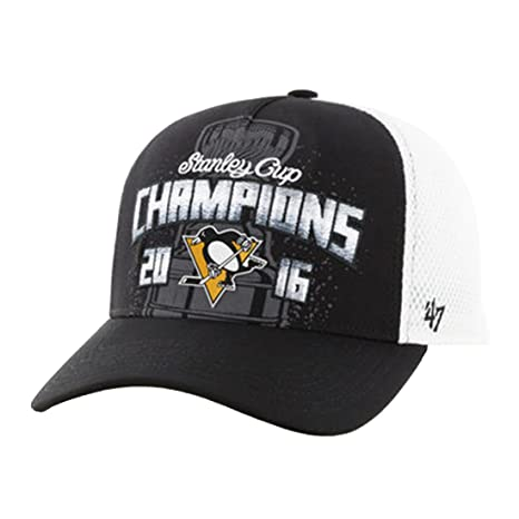 wholesale dealer d3d2a 8ac95 Amazon.com    47 NHL Pittsburgh Penguins 2016 Stanley Cup Champions MVP DV  Mesh Adjustable Hat, One Size, Black   Sports   Outdoors