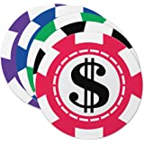 Epic Products Casino Chips Coaster (Set of 25), Multicolor