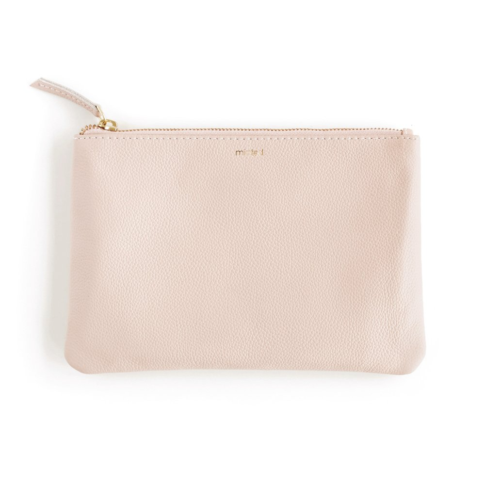Minted Blush Leather Everyday Clutch