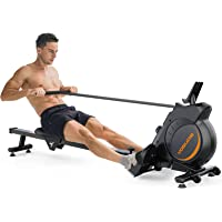 YOSUDA Magnetic Rowing Machine 350 LB Weight Capacity - Foldable Rower for Home Use with LCD Monitor, Tablet Holder and…