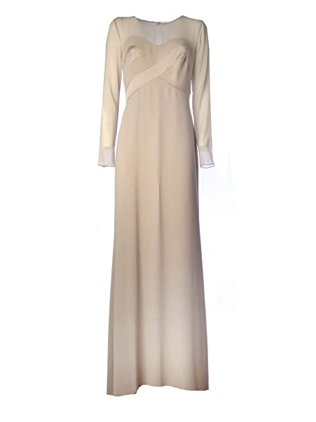 buy popular 71781 2d721 Max Mara Vestito Donna 82210497000032 Viscosa Beige: Amazon ...