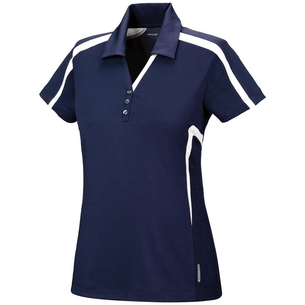 Ash City Womens Accelerate Performance Polo (X-Large, Night/Ice) by Ash City Apparel