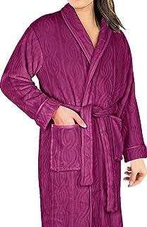 01acfa968e AMONIDA Cotton Bathrobe for Women Long Robes Soft Sleepwear at ...