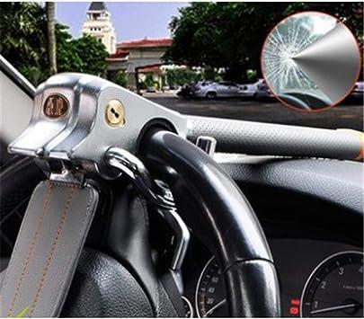 Cerradura del Volante Antirrobo Del volante del coche plegable bloqueo antirrobo tres direcci/ón Airbag cerraduras con martillo de seguridad tres colores opcional,A