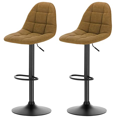 Fine Esituro Bar Stools Brown Barstools Set Of 2 Adjustable Steel Cjindustries Chair Design For Home Cjindustriesco
