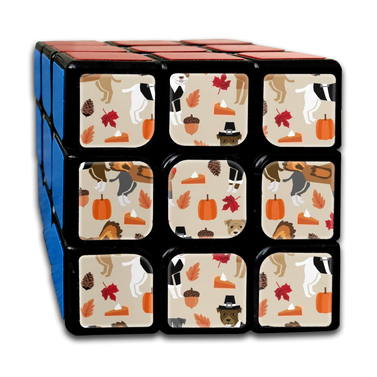 vintage cap Pitbull Thanksgiving - Cute Dog, Dogs, Turkey, Holiday, Fall Autumn, Dogs Customized Speed Cube 3x3 Smooth Magic Cube Puzzle Game Brain Training Game for Adults Kids