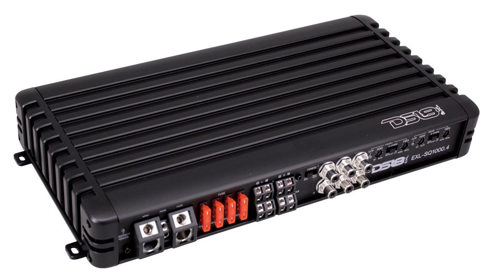 DS18 EXL-SQ1000.4 High Efficiency Compact 1000 Watts 4 Channel Luxury Multichannel Class D Full Range Sound Quality Amplifier by DS18