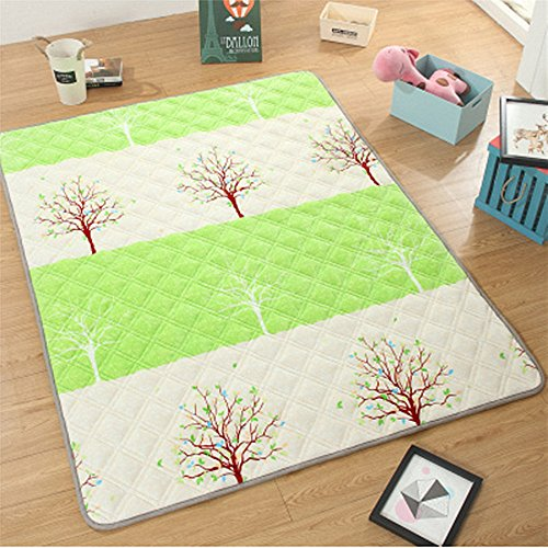 USTIDE French Fries Tree Fashion Design Area Rugs,Extra Large Cotton Washable Playmat for Boys/Girls,Large
