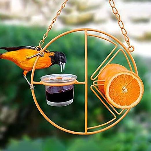 Akemaio Dispensador de Agua para pájaros, jardín al Aire Libre Interior Comedero para pájaros Dispensador de Agua para Alimentos Percha Decoración para el hogar: Amazon.es: Hogar