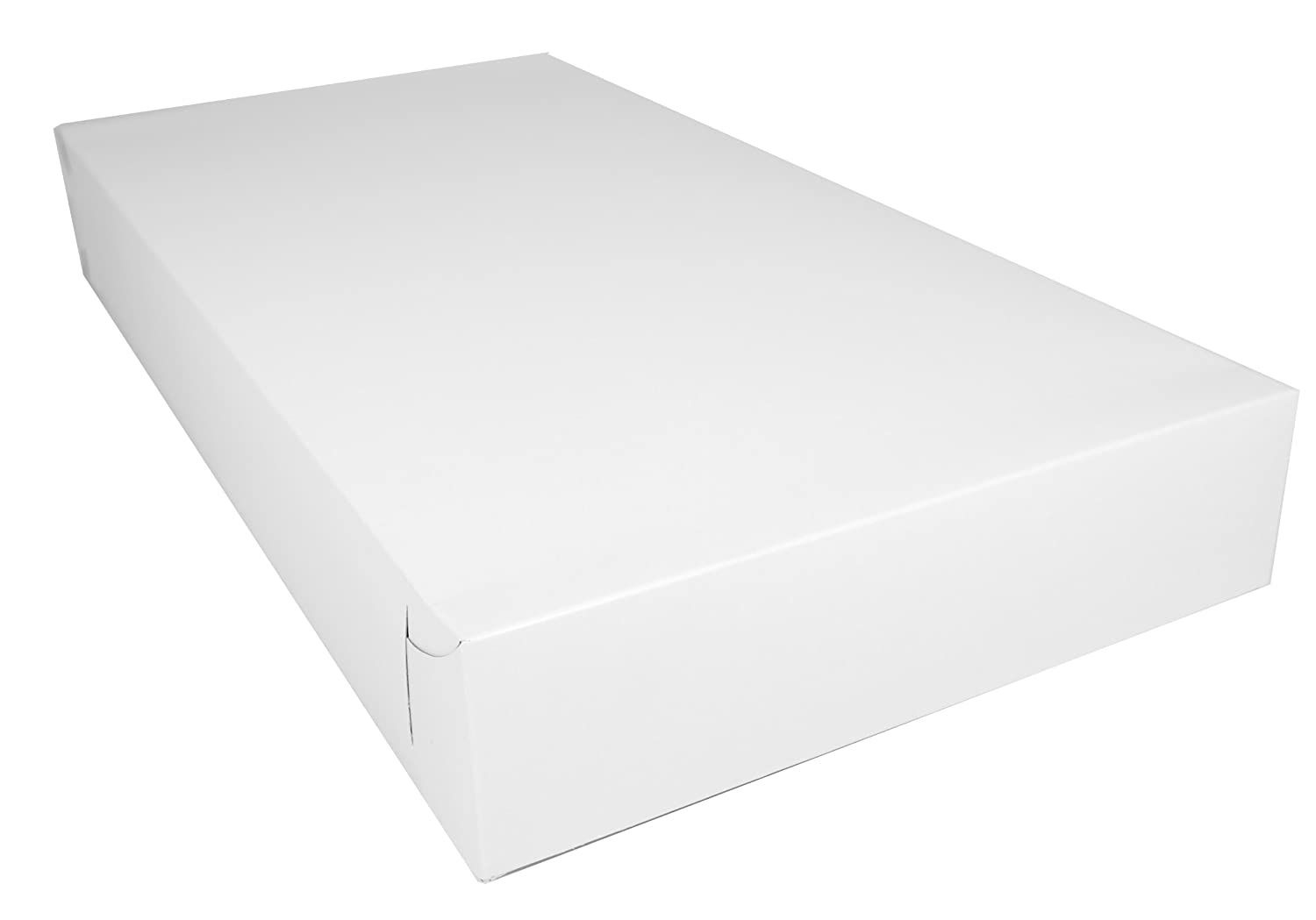 Southern Champion Tray 2037 Clay Coated Kraft Paperboard White Lock Corner Donut Tray, 23
