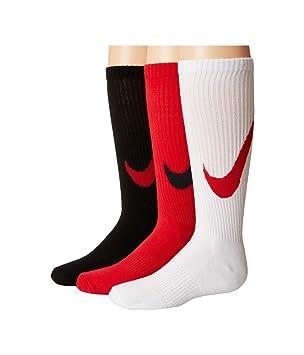 Nike 3P YTH Boys Graphic CTN Cush - Pack 3 Pares Calcetines para niño, Color Rojo, Talla S: Amazon.es: Deportes y aire libre