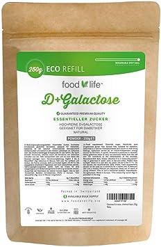 D-Galactosa en polvo 250g | Apropiado para bebés, lactantes, alérgicos y diabéticos | Sin lactosa y sin gluten | Suministro para 3 meses | Calidad de ...