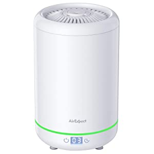 AirExpect Ultrasonic Cool Mist Humidifier for Bedroom - Top Fill Humidifiers with 3.5L Water Tank, Whisper-Quiet, Auto Shutoff, Easy Clean, 24h Air Humidifying