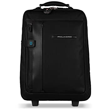 5cb20f8575be46 Amazon.com | Piquadro Cabin Trolley with PC and iPad Divider Garment Bag  Stow-Away, Black | Luggage