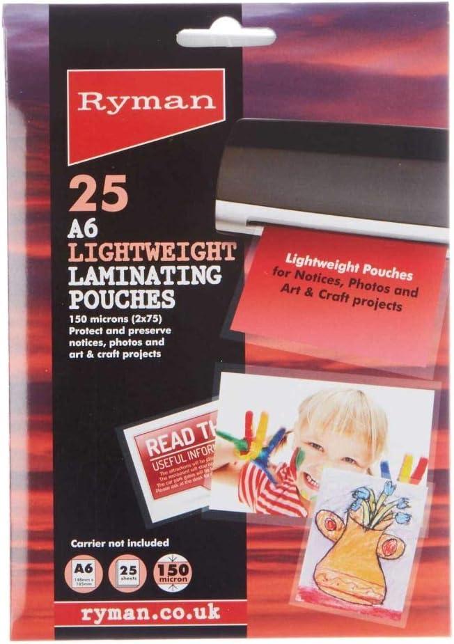 75 Mikron pro Seite A4 100 Pack Ryman Premium Laminierfolien 150 Mikron