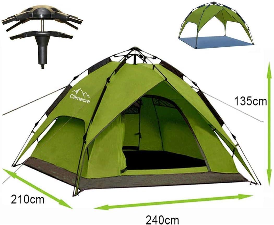 Climecare Wurfzelt Pop Up Zelt 2-3-4 Personen automatisches Campingzelt Familienzelt Tunnelzelt Kuppelzelt Sekundenzelt Schnellaufbau f/ür Camping Wandern Reisen Strand Gr/ün//Blau Gr/ün