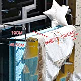 Stainless steel clothes drying rack,Window Balcony Fence blanket drying rack shoe rack windowsill cool clothes rack retractable folding drying racks-E