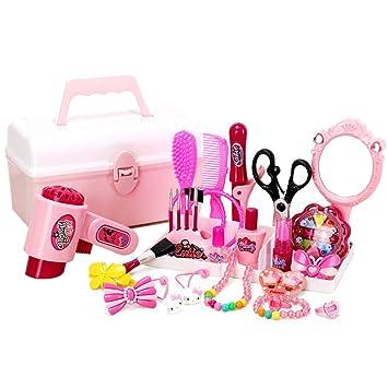 baade986455772 YVSoo - Dînette - Mallette de Coiffure pour Les Petits Filles - Trousse de  Maquillage -